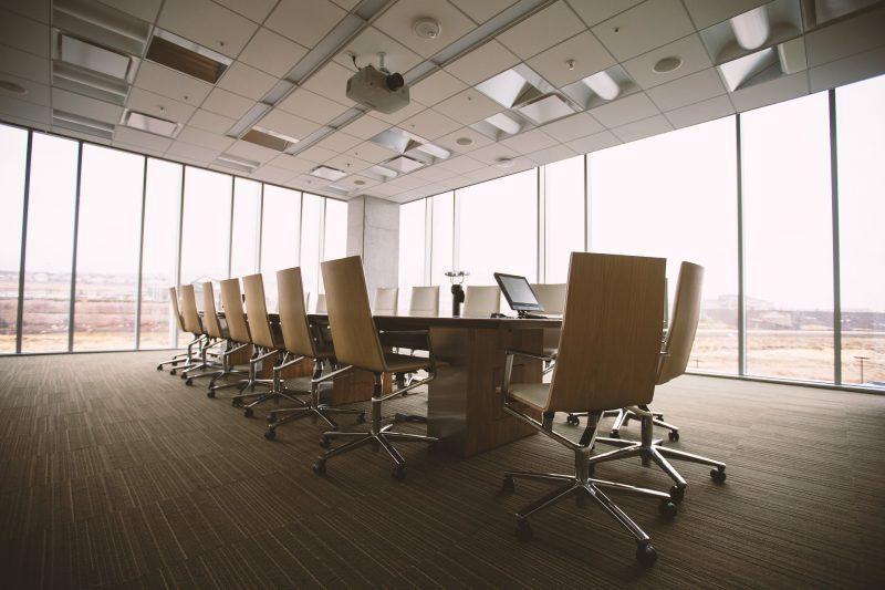 Sala de reuniones de empresa, muy apropiada para el coaching de Equipos