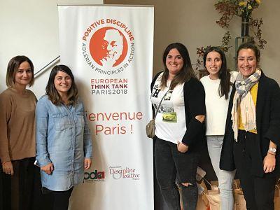 Equipo de Centro Psicología Bilbao en el Think Tank de Disciplina Positiva en Paris